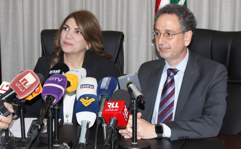 Press Conference for Minister Marie Claude Najem