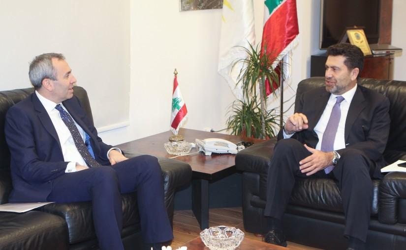 Minister Raymond Ghagar meets British Ambassador