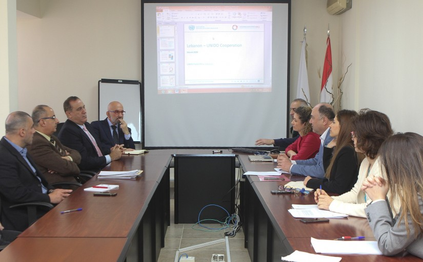 Minister Imad Habalah meets a Delegation from UNIDO