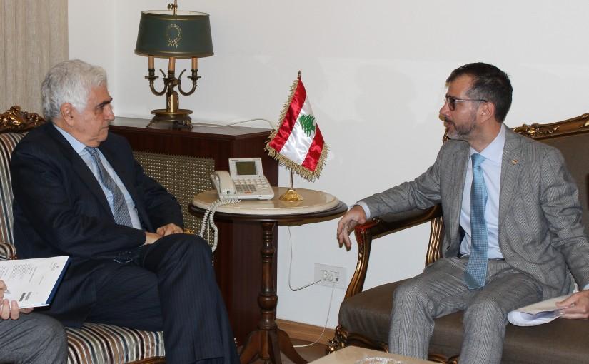 Minister Nassif Hiti meets Mr Christoph Marten