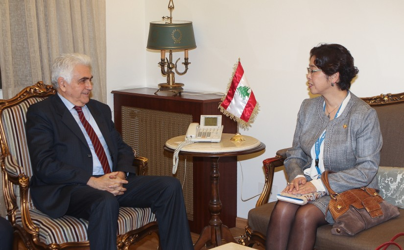 Minister Nassif Hiti meets a Delegation from UNICEF