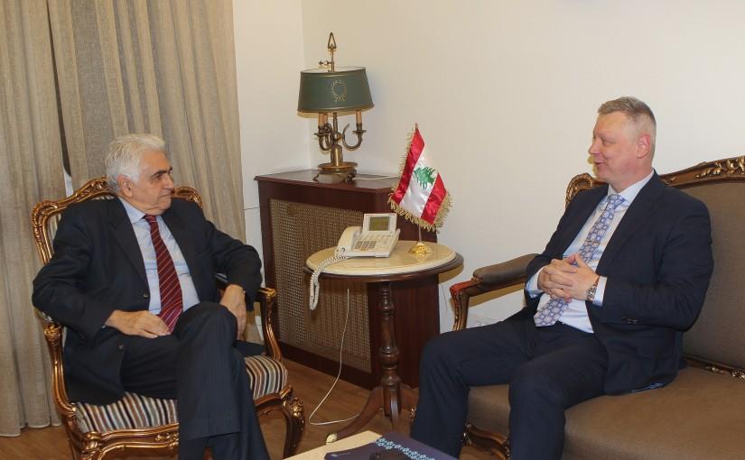 Minister Nassif Hiti meets Estonian Ambassador