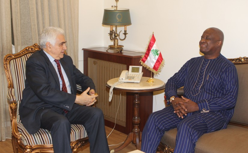 Pr Minister Hassan Diab meets Ghana Ambassador