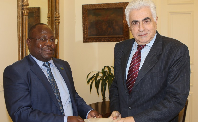 Minister Nassif Hiti meets Zambia Ambassador