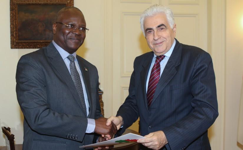 Minister Nassif Hiti meets Porkina Fasso Ambassador