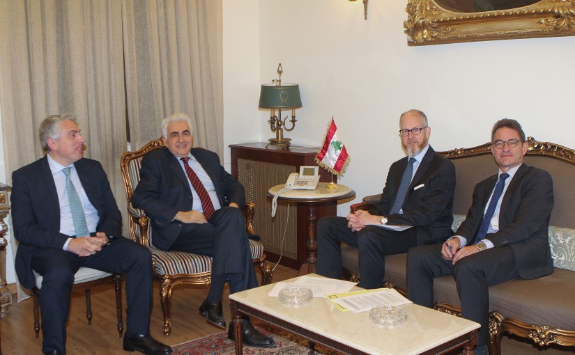 Minister Nassif Hiti meets German Ambassador