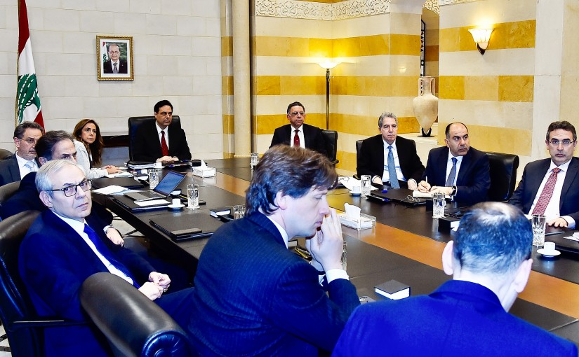 Pr Minister Hassan Diab Heading a  Economical Committee