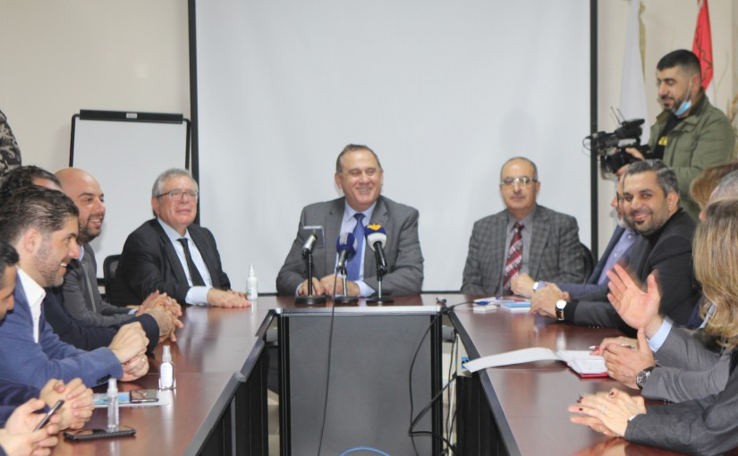 Minister Imad Habalah meets a Delegation from Industrial Association