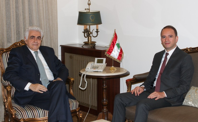 Minister Nassif Hiti meets Mr Bachir Khodor