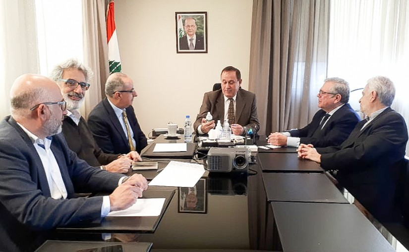 Minister Imad Habalah meets a Delegation from Industrialists Syndicate