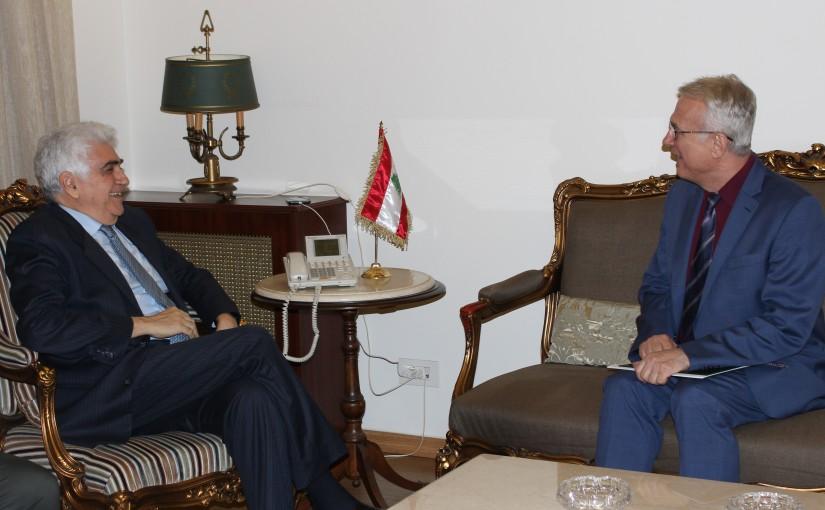Minister Nassif Hiti meets Hungarian Ambassador