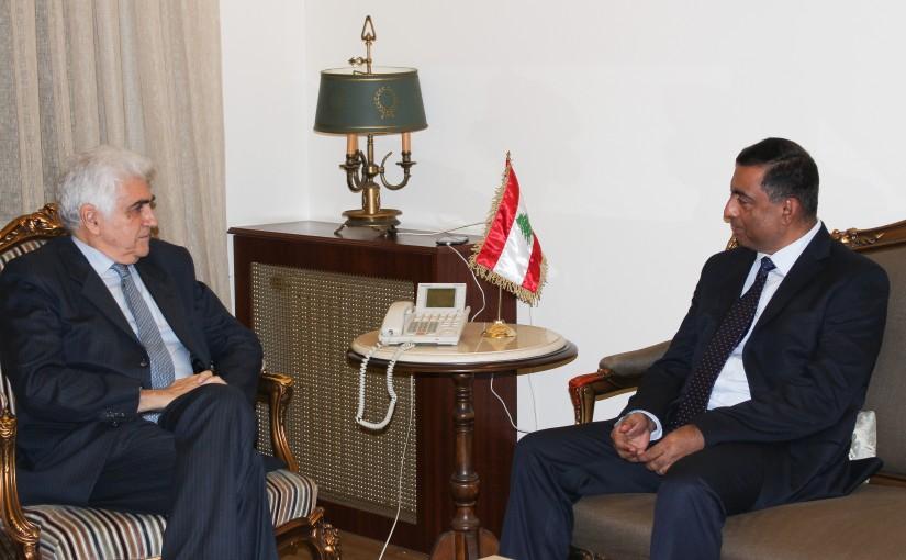Minister Nassif Hiti meets Pakistan Ambassador