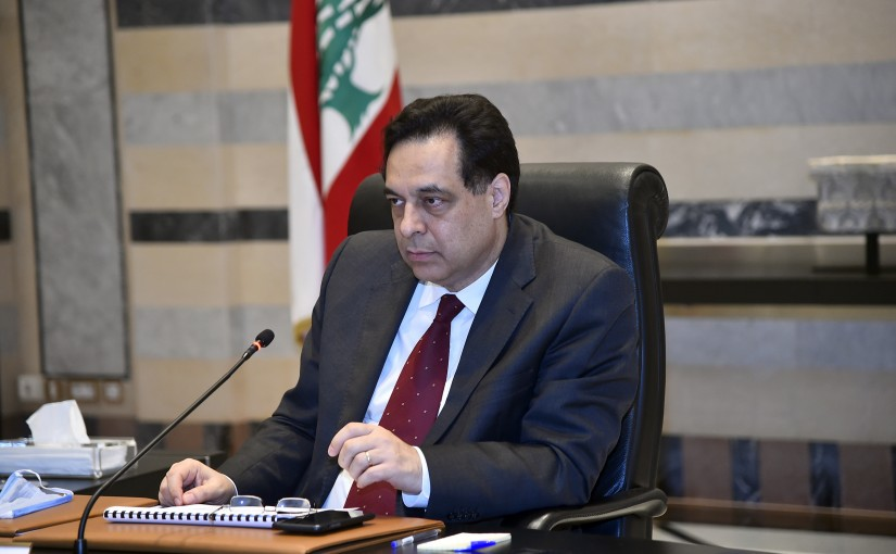 Pr Minister Hassan Diab Heading a Ministerial Meeting
