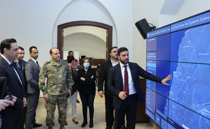 Pr Minister Haasan Diab Visits the Crisis Room