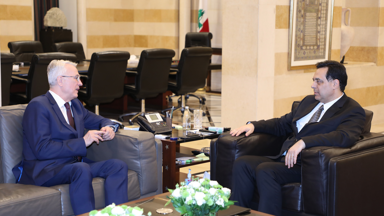 Pr Minister Hassan Diab meets Hangarian Ambassador