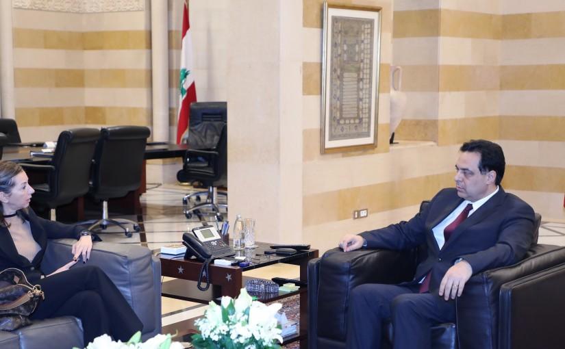 Pr Minister Hassan Diab meets Italian Ambassador