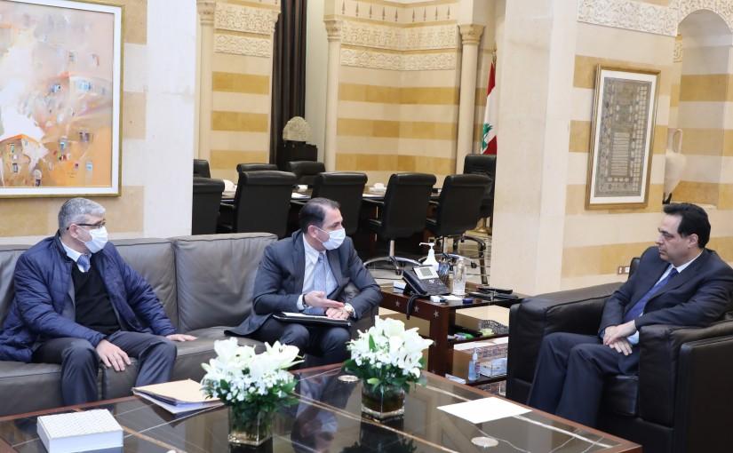 Pr Minister Hassan Diab meets Tallal Hawat