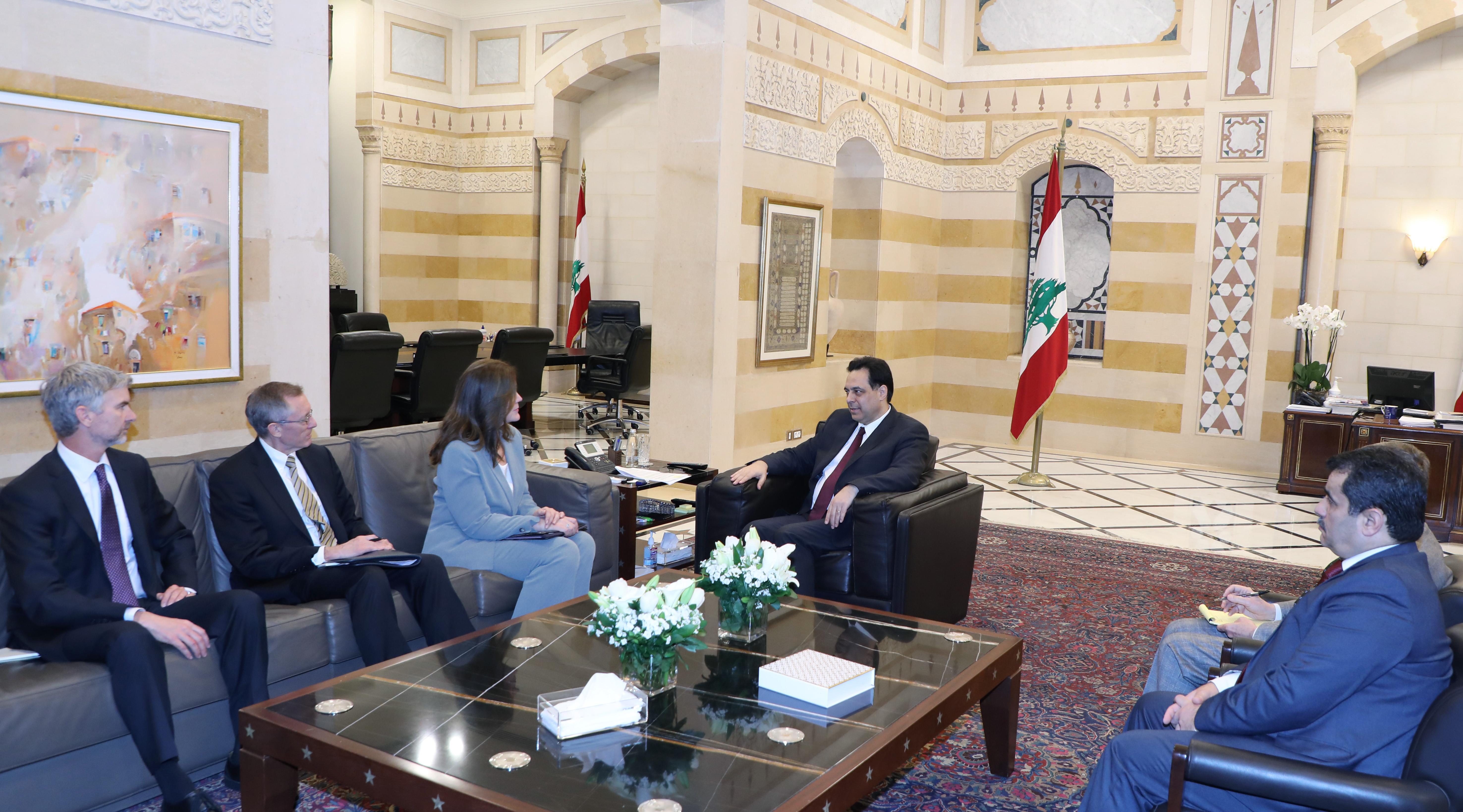 Pr Minister Hassan Diab meets US Ambassador 1