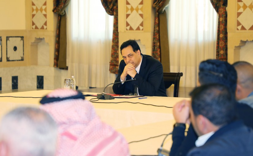 Pr Minister Hassan Diab meets a Delegation a Delegation from Lebanese Farmers