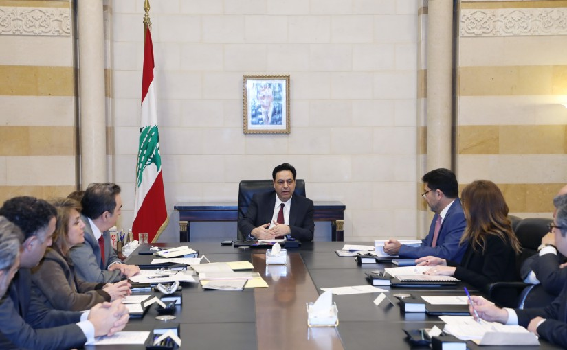 Pr Minister Hassan Diab meets a Delegation from Oil Committee