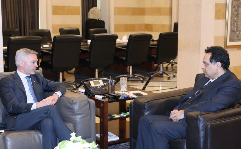 Pr Minister Hassan Diad meets Mr Christopher Martin