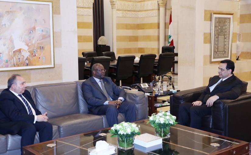 Pr Minister Hassan Diab meets Porkina Fasso Ambassador