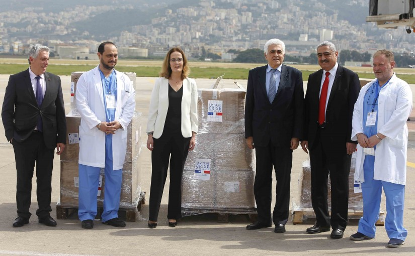 Minister Nassif Hiti Receiving Medical Aid From French