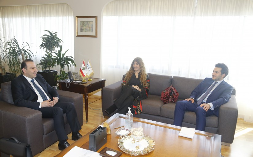Minister Abassa Mourtada meets Mr Michel Fayad with a Delegation