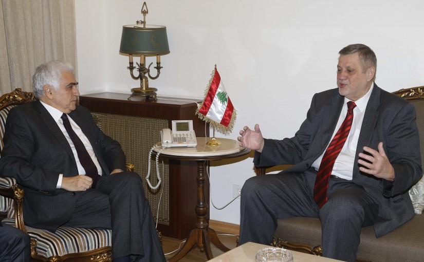 Minister Nassif Hiti meets Mr Yan Kobish