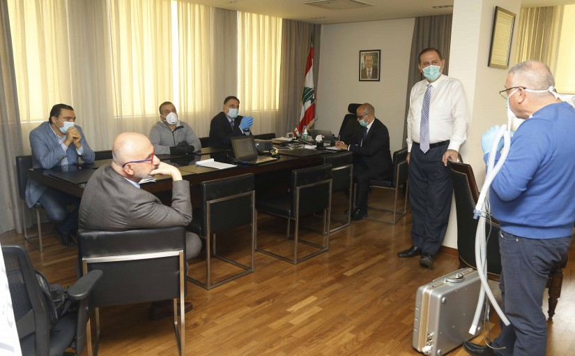 Minister Imad Habalah Watch a Explain for a new Prototype of Ventilator was presented to the Minister of Industry