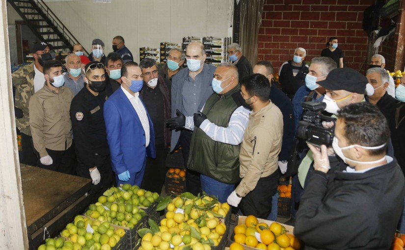Minister of Agriculture Abbas Mortada Tours at the Vegetables Market