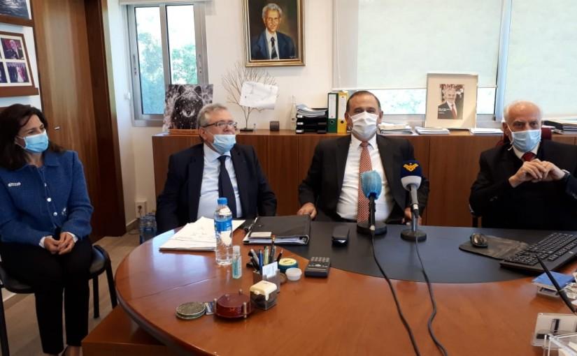 Tours for Minister Imad Habalah at  Bekfaya