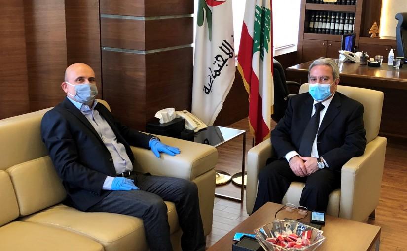 Minister Ramzi Mcharafiyeh Meets MP Simon Abi Ramia