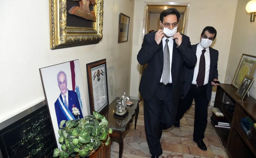 Pr Minister Hassan Diab Visits Former Pr Minister Selim el Hoss