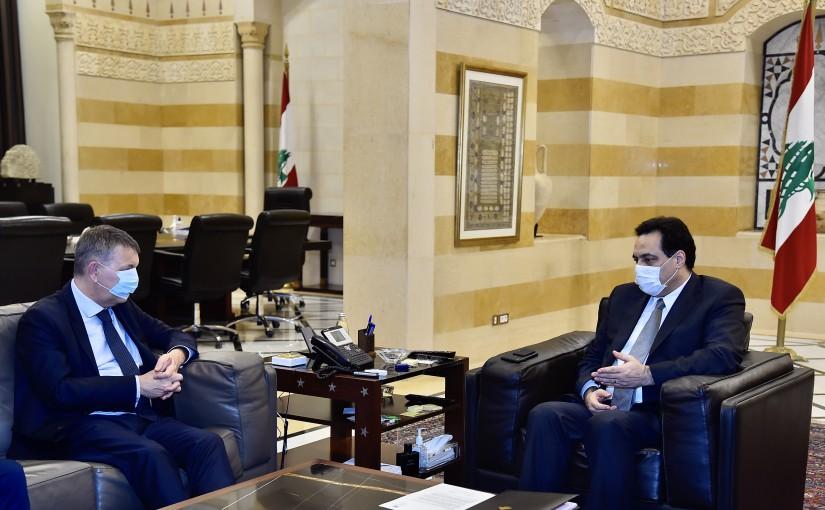 Pr Minister Hassan Diab meets Mr Phillip Larizini
