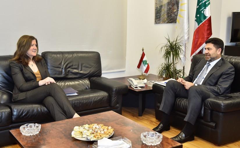 Minister Raymond Ghagar meets US Ambassador