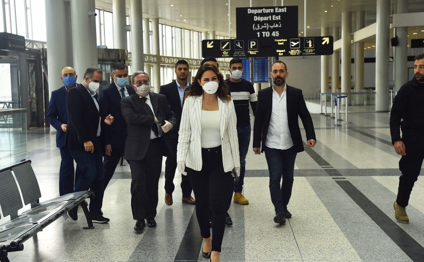 Tour for Minister Manal Abdel Samad at Rafic Hariri Airport