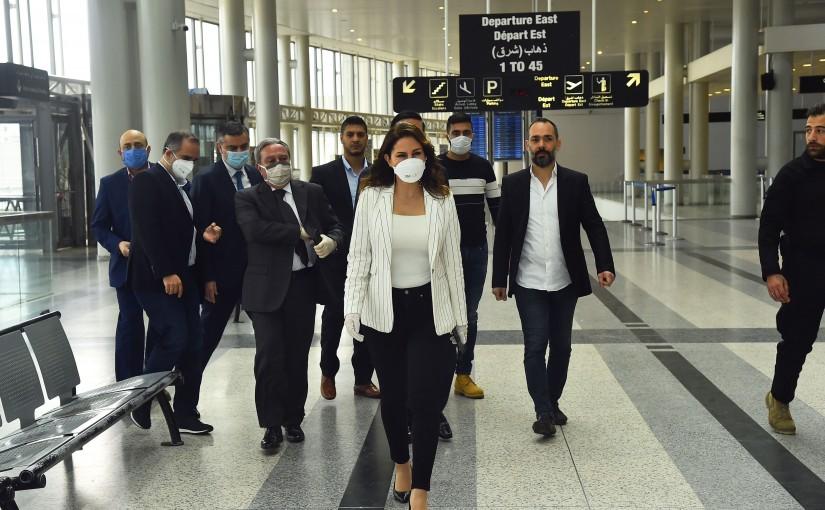 Tour for Minister Manal Abdel Samad at Rafic Hariri Airport