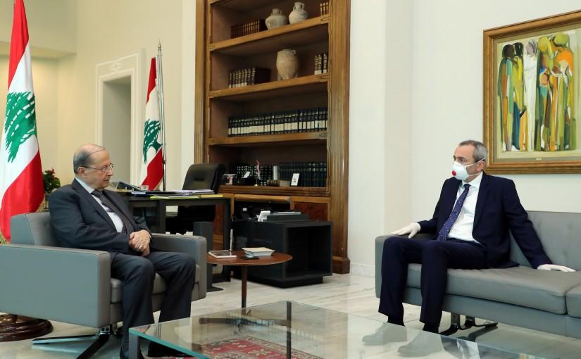 President Michel Aoun Meets British Ambassador