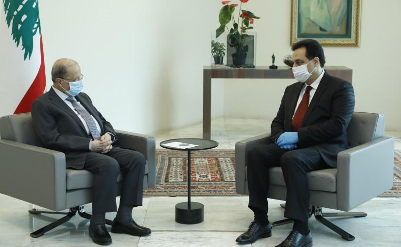 President Michel Aoun Meets Pr Minister Hassan Diab
