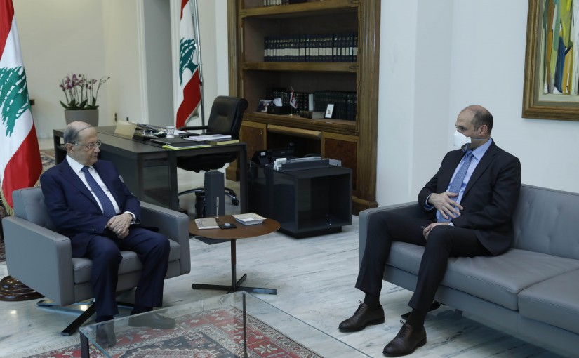 President Michel Aoun Meets Minister of Health Hamad Hassan & The Representative of World Health Organization in Lebanon Dr Iman Shankiti