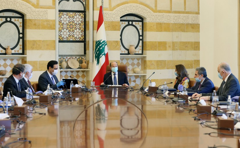 President Michel Aoun Heading The Highest Council For Defense