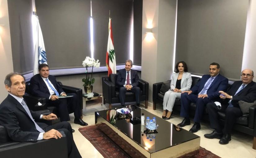 Minister Ghazi Wazni meets Mr Nassif Seklawi with a Delegation