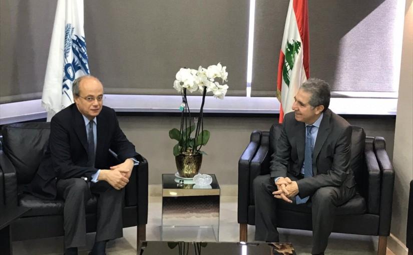 Minister Ghazi Wazni meets Spanish Ambassador