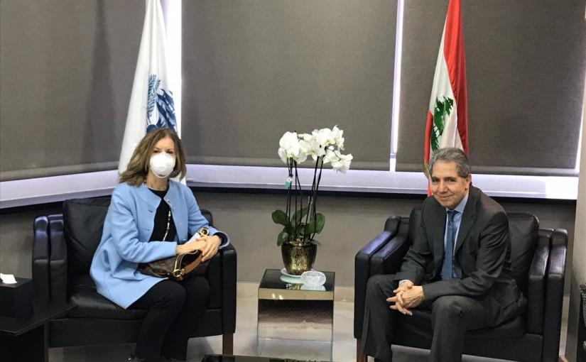 Minister Ghazi Wazni meets Italian Ambassador