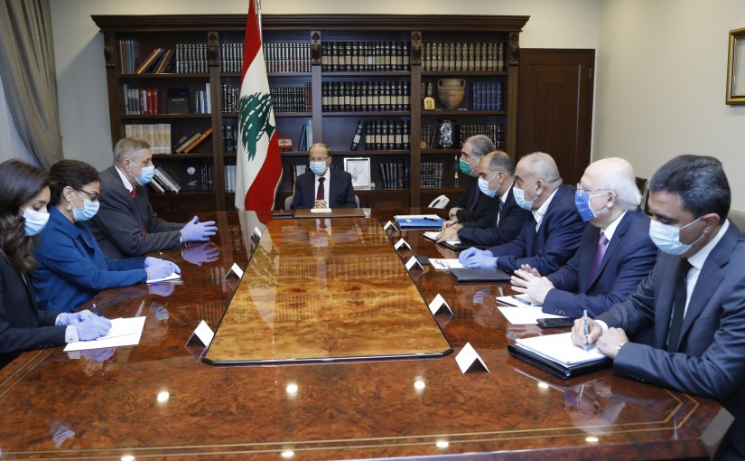 President Michel Aoun Meets United Nations Special Coordinator for Lebanon Jan Kubis