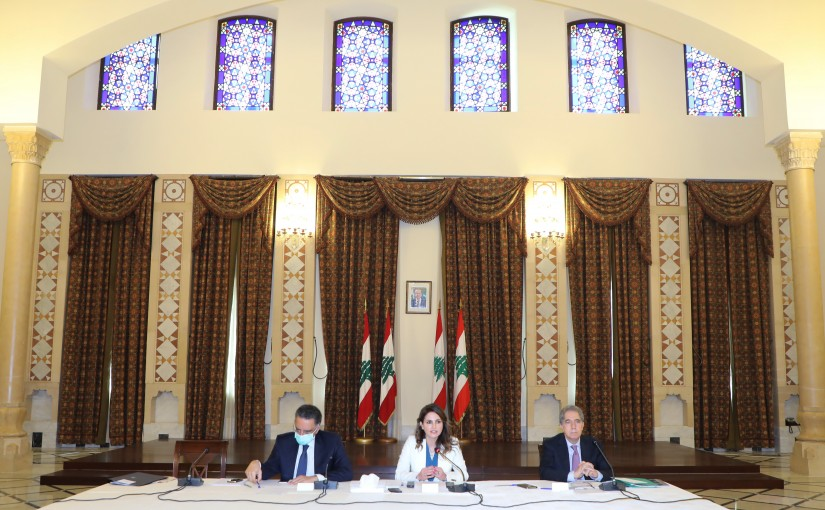 Lecture for Minister Manal Abdel Samad at Grand Serail