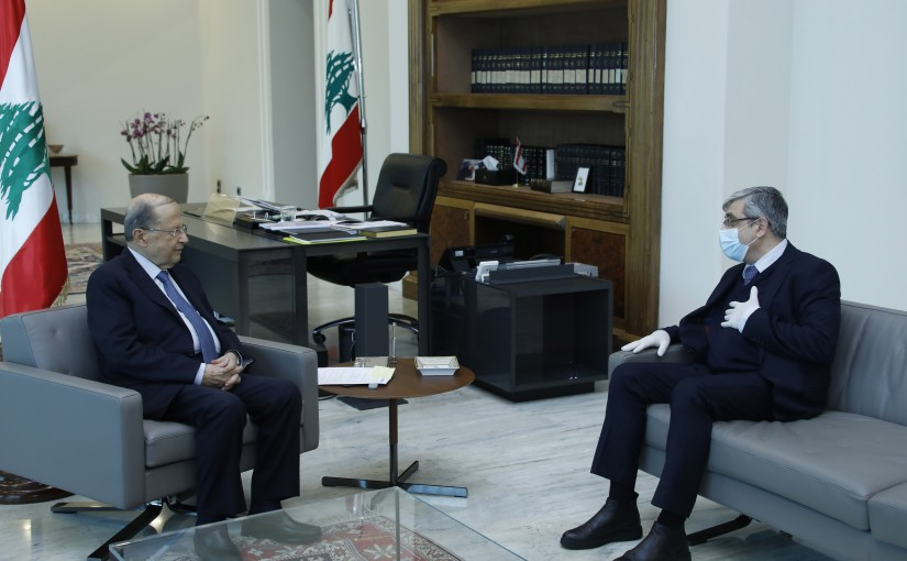 President Michel Aoun Meets Minister of Education Tarek Al Majzoub