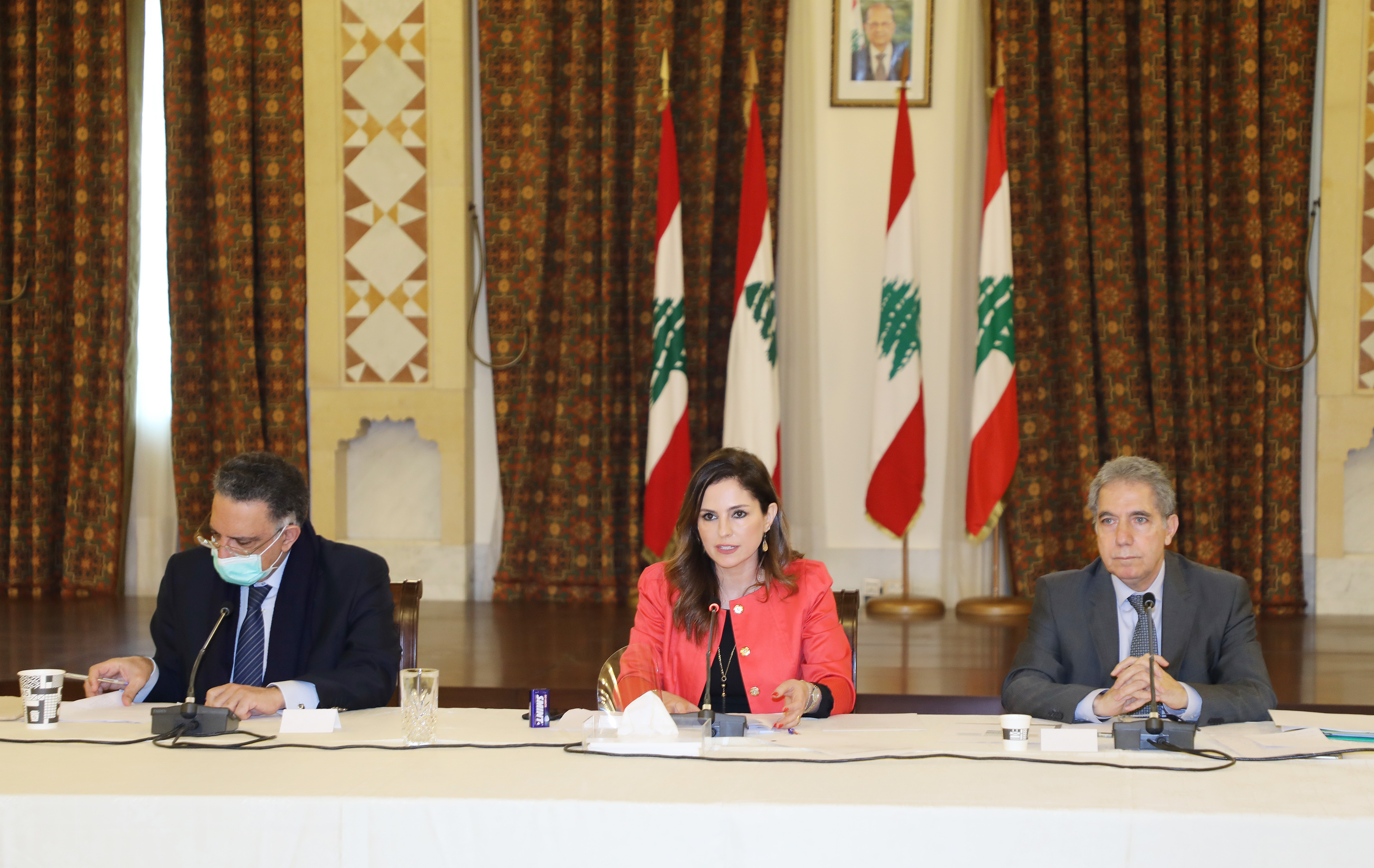 Minister Manal Abdel Samad Attends a Economical Conference at the Grand Serail 2