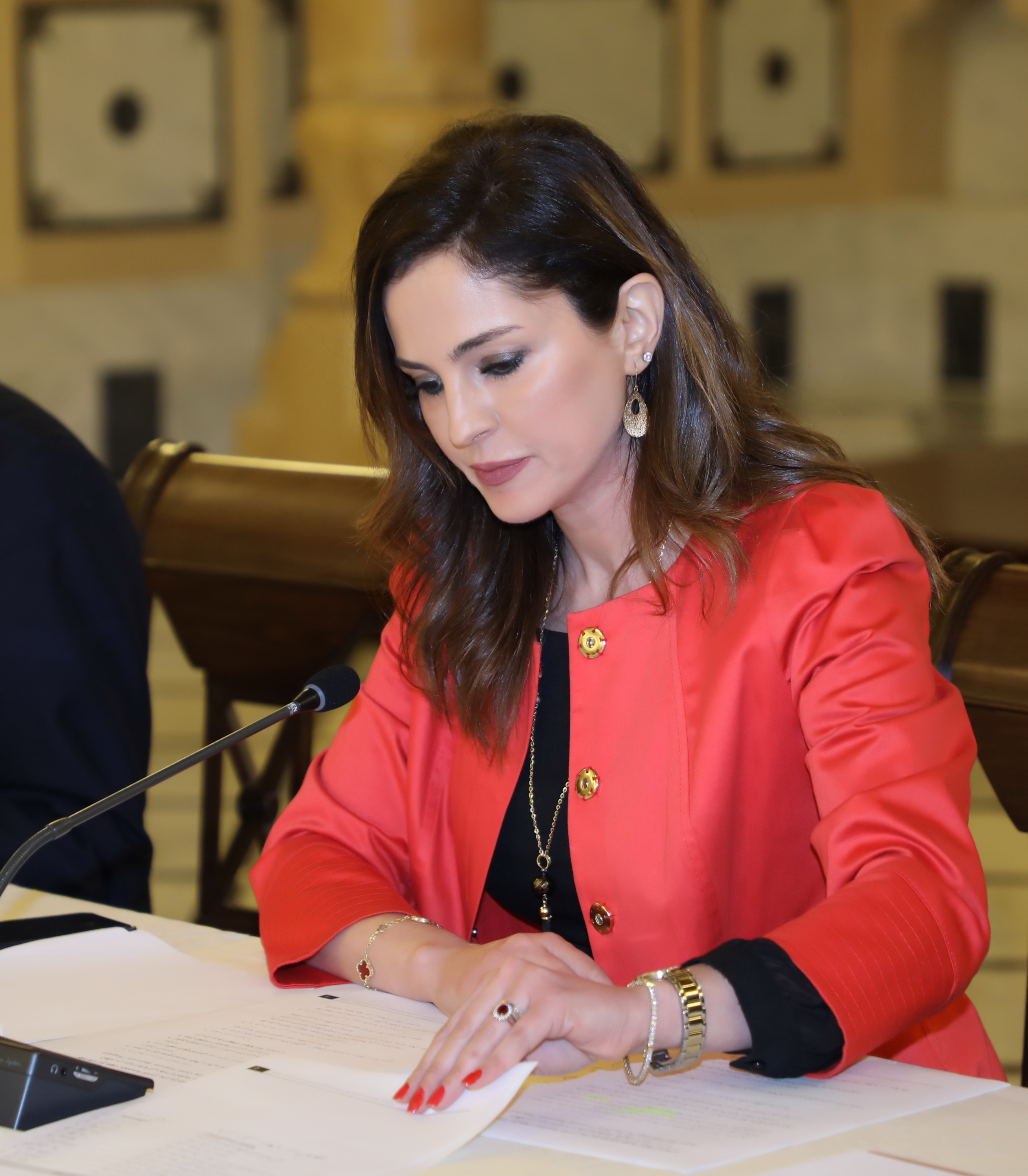 Minister Manal Abdel Samad Attends a Economical Conference at the Grand Serail 3